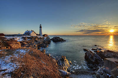 Portland Head Light Art Print by Chris Babcock