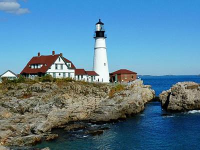 Photograph - Portland Head Light by Elaine Franklin