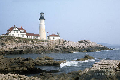 Art Print featuring the photograph Portland Head Light by ELDavis Photography