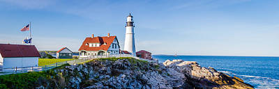 Photograph - Portland Head Light House Cape Elizabeth Maine by Robert Bellomy