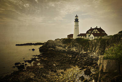 Portland Head Light II Art Print by Joan Carroll