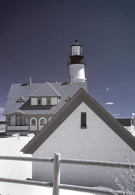 Portland Head Light In Ir Art Print by Joann Vitali