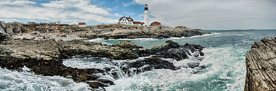 Portland Photograph - Portland Head Light Pano by Josh Whalen
