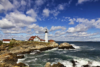 Portland Head Light Seascape Art Print