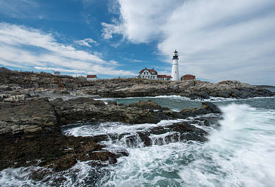 Portland Photograph - Portland Head Light Two by Josh Whalen