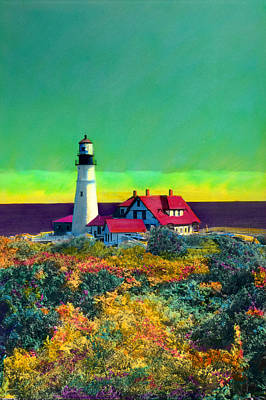 Portland Head Light V Art Print by Cindy McIntyre