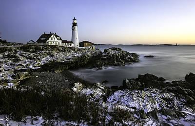 Portland Head Lighthouse At Dawn Art Print by Betty Denise