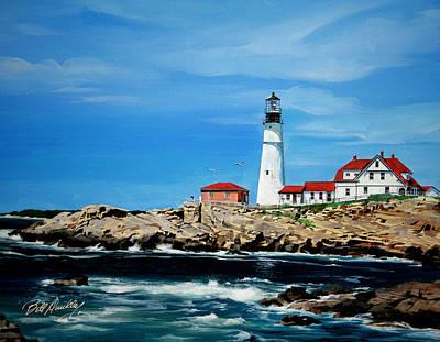 Portland Head Lighthouse Art Print by Bill Dunkley