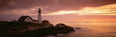 Portland Head Lighthouse Photograph - Portland Head Lighthouse, Cape by Panoramic Images
