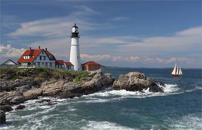 Photograph - Portland Head Lighthouse by Daniel Behm