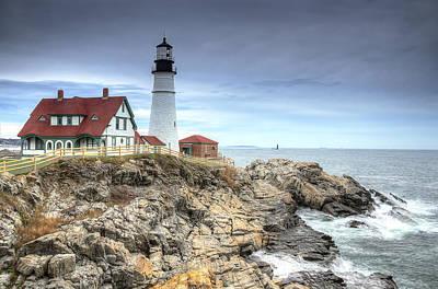 Lighthouse Photograph - Portland Head Lighthouse by Donna Doherty