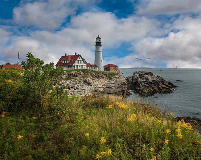 Landscape Photograph - Portland Head Lighthouse  by Erwin Spinner