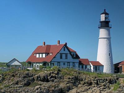 Photograph - Portland Head Lighthouse by Gene Cyr