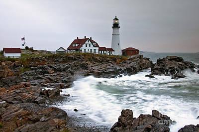 Photograph - Portland Head Lighthouse by Glenn Gordon