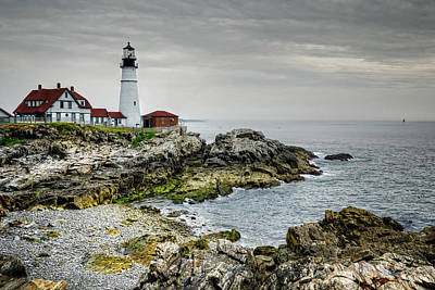 Portland Lighthouse Photograph - Portland Head Lighthouse by Joan Carroll