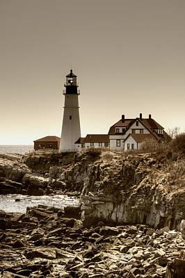 Portland Head Lighthouse Art Print by Joann Vitali