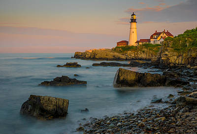 Print featuring the photograph Portland Head Lighthouse by Steve Zimic