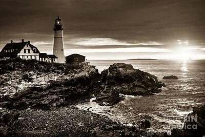 Photograph - Portland Head Lighthouse Sunrise by Alana Ranney