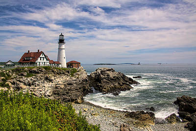 Photograph - Portland Head Lighthouse by William Wetmore