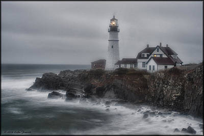 Photograph - Portland Head Nor'easter by Erika Fawcett