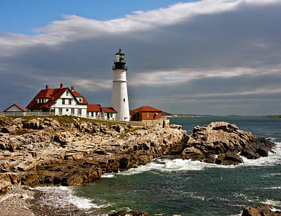 Portland Headlight Art Print by John Haldane