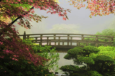 Portland Japanese Garden,oregon, Usa (pr Art Print