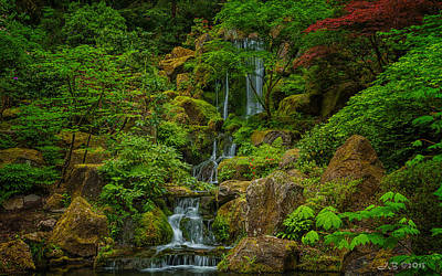 Art Print featuring the photograph Portland Japanese Gardens by Jacqui Boonstra