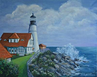 Portland Light House Original by Suely Cassiano