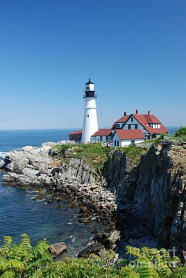 Photograph - Portland Lighthouse 2 by Allen Beatty