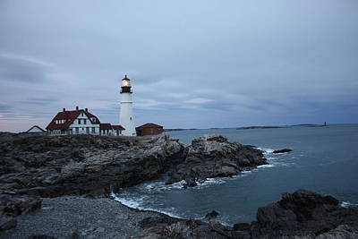 Photograph - Portland Lighthouse At Dusk by Kimber  Butler