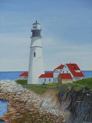 Painting - Portland Lighthouse by James Lawler
