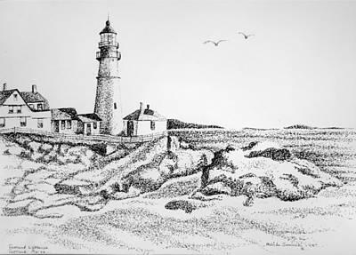 Portland Lighthouse Art Print