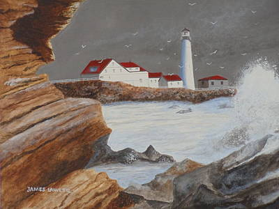 Painting - Portland Maine Light by James Lawler