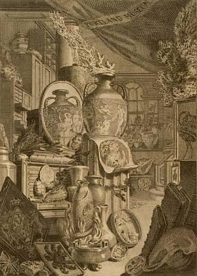 Portland Museum, 1786 Art Print by Charles Burney