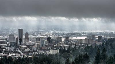 Portland Oregon After A Morning Rain Art Print