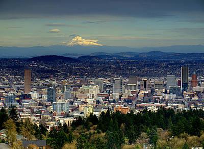 Photograph - Portland Oregon by HW Kateley