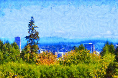 Digital Art - Portland Oregon by Kaylee Mason