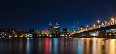 Portland Oregon Nightscape Art Print by Don Schwartz