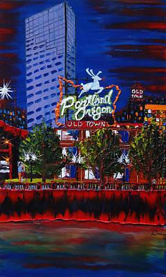 Portland Oregon Sign 15 Art Print by Portland Art Creations