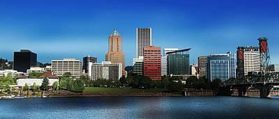 Photograph - Portland Oregon Skyline  by Aaron Berg
