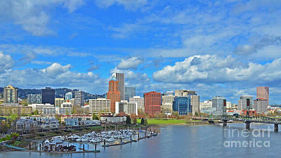 Photograph - Portland Oregon Skyline by Jack Moskovita