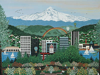 Painting - Portland Rainbow by Jennifer Lake