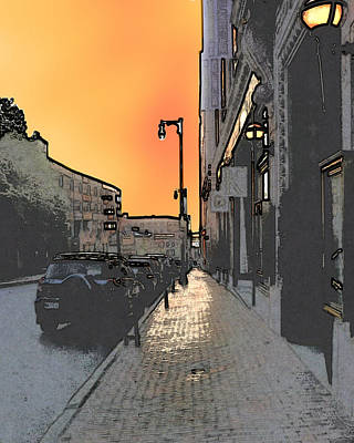 Photograph - Portland Street Sunset by Ann Tracy