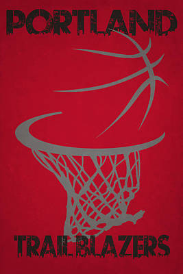 Portland Trail Blazers Hoop Art Print by Joe Hamilton