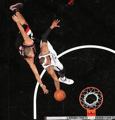 Photograph - Portland Trail Blazers V Brooklyn Nets by Nathaniel S. Butler