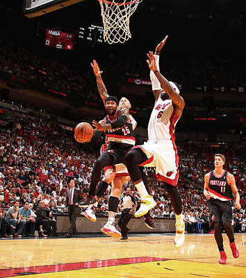 Photograph - Portland Trail Blazers V Miami Heat by Nathaniel S. Butler