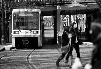 Photograph - Portland Train by Niels Nielsen