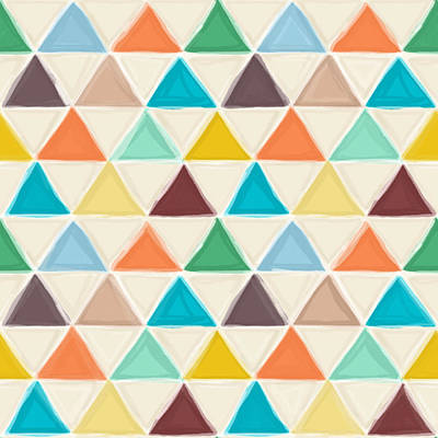 Portland Triangles Print by Sharon Turner