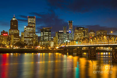 Photograph - Portland Twilight by Brian Jannsen