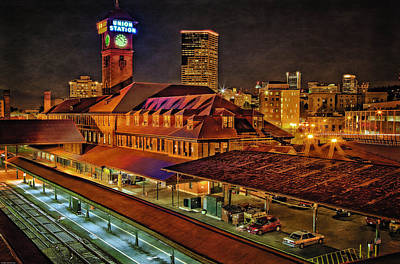 Photograph - Portland Union Train Station Two by Thom Zehrfeld